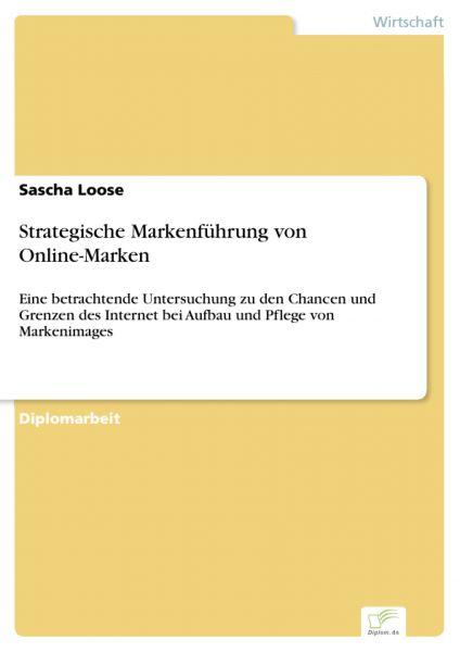 Strategische Markenführung von Online-Marken