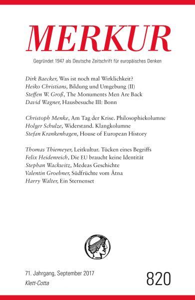MERKUR Deutsche Zeitschrift für europäisches Denken - 2017-09