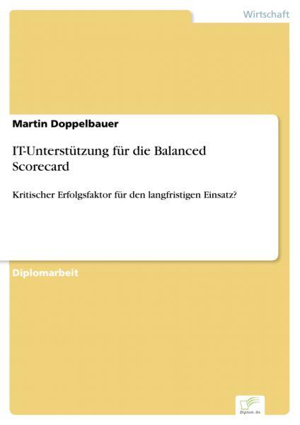 IT-Unterstützung für die Balanced Scorecard