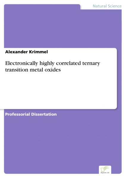 Electronically highly correlated ternary transition metal oxides