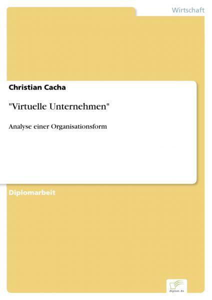 """""""Virtuelle Unternehmen"""""""