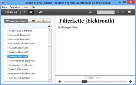 deutsch-englisch Woerterbuch-Uebersetzungen: Elektronik- Wortschatz - technical terms / words germa