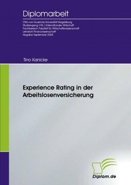 Experience Rating in der Arbeitslosenversicherung
