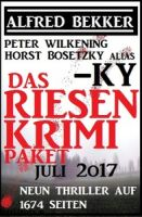 Das Riesen Krimi Paket Juli 2017: Neun Thriller auf 1674 Seiten