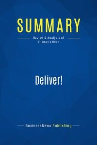 Summary: Deliver!