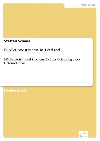 Direktinvestionen in Lettland