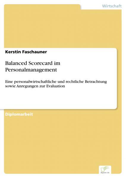 Balanced Scorecard im Personalmanagement