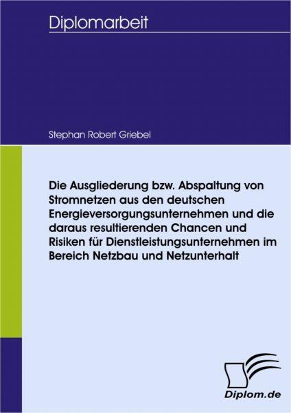 Die Ausgliederung bzw. Abspaltung von Stromnetzen aus den deutschen Energieversorgungsunternehmen un
