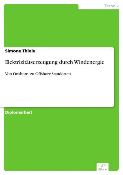 Elektrizitätserzeugung durch Windenergie