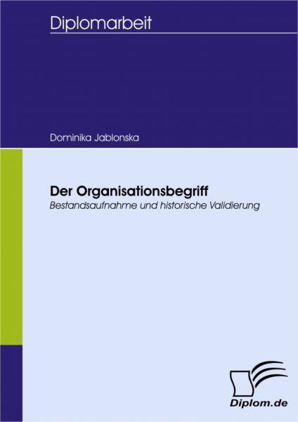 Der Organisationsbegriff