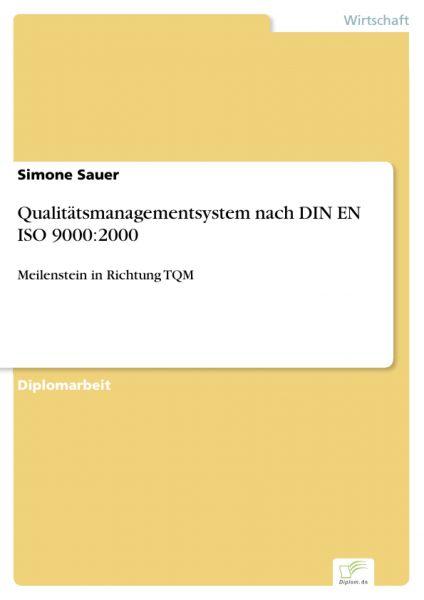 Qualitätsmanagementsystem nach DIN EN ISO 9000:2000