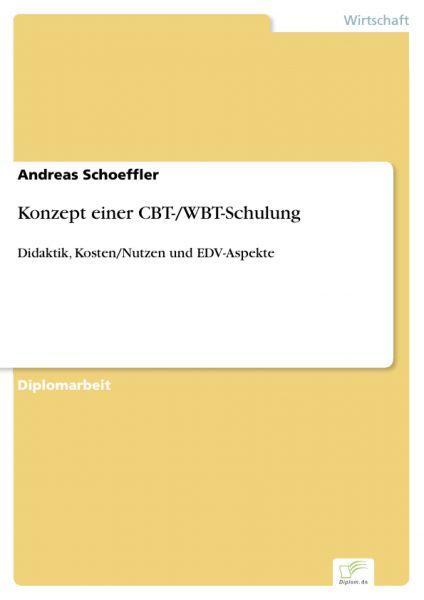 Konzept einer CBT-/WBT-Schulung