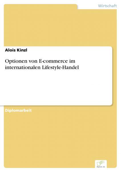 Optionen von E-commerce im internationalen Lifestyle-Handel
