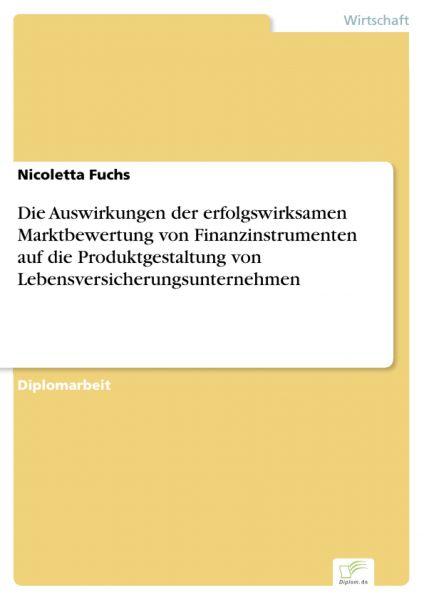 Die Auswirkungen der erfolgswirksamen Marktbewertung von Finanzinstrumenten auf die Produktgestaltun