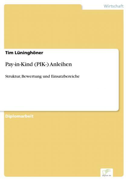 Pay-in-Kind (PIK-) Anleihen