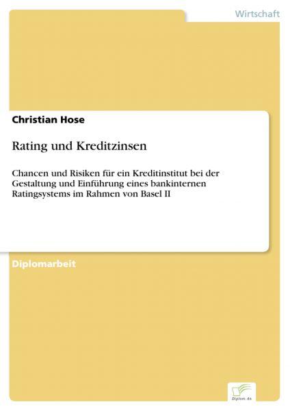 Rating und Kreditzinsen