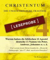 Christentum - die ungeschriebene Tragödie - Buch 4 - Leseprobe