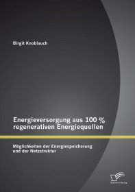 Energieversorgung aus 100 % regenerativen Energiequellen: Möglichkeiten der Energiespeicherung und d