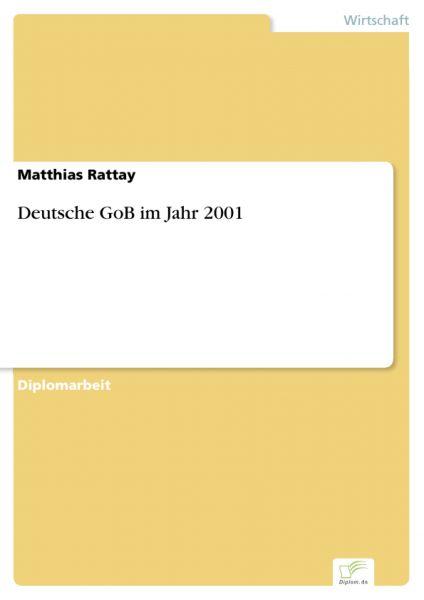 Deutsche GoB im Jahr 2001