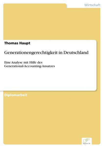 Generationengerechtigkeit in Deutschland