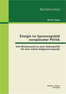 Energie im Spannungsfeld europäischer Politik: Vom Binnenmarkt zu einer Außenpolitik für eine sicher