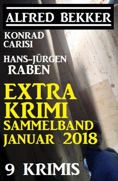 Extra Krimi Sammelband Januar 2018: 9 Krimis