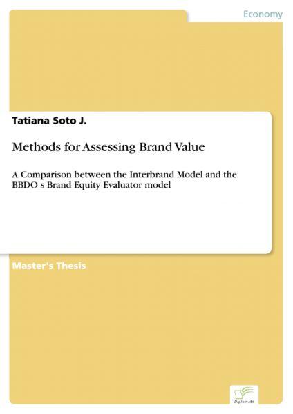 Methods for Assessing Brand Value