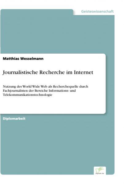 Journalistische Recherche im Internet
