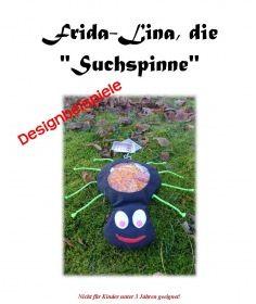 Designbeispiele für die Nähanleitung der Suchspinne Frida-Lina