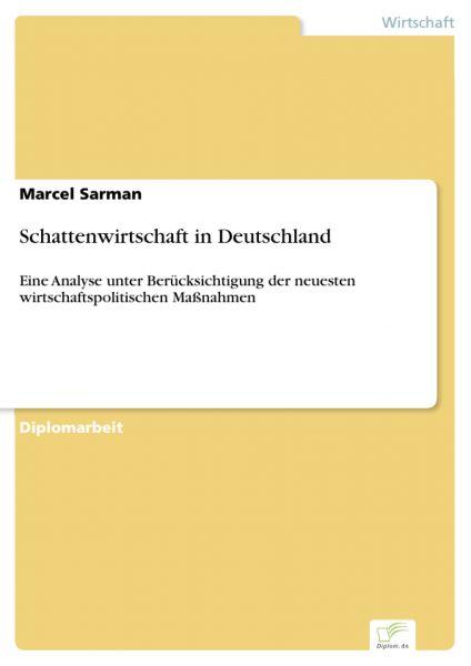 Schattenwirtschaft in Deutschland