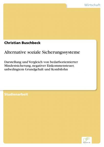 Alternative soziale Sicherungssysteme