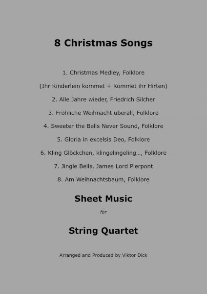 8 Christmas Songs (String Quartet)
