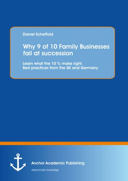 Why 9 of 10 Family Businesses fail at succession: Learn what the 10 % make right. Best practices fro
