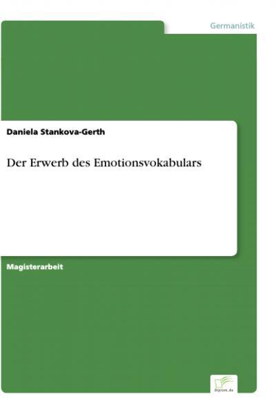 Der Erwerb des Emotionsvokabulars