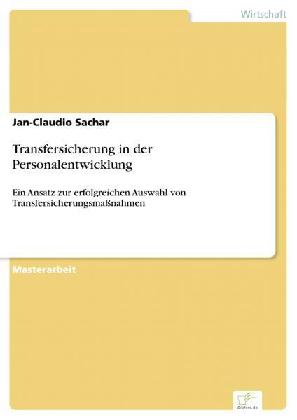 Transfersicherung in der Personalentwicklung