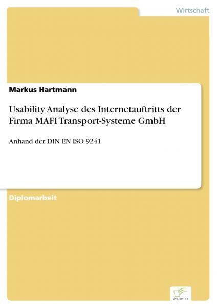 Usability Analyse des Internetauftritts der Firma MAFI Transport-Systeme GmbH