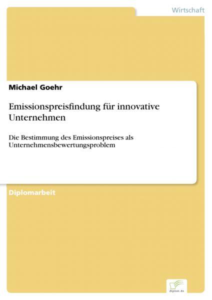 Emissionspreisfindung für innovative Unternehmen