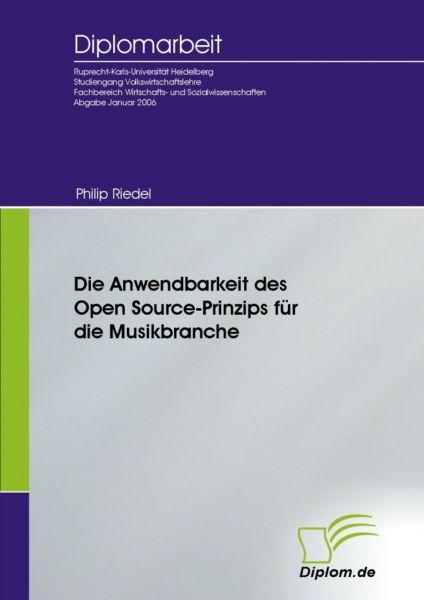 Die Anwendbarkeit des Open Source-Prinzips für die Musikbranche