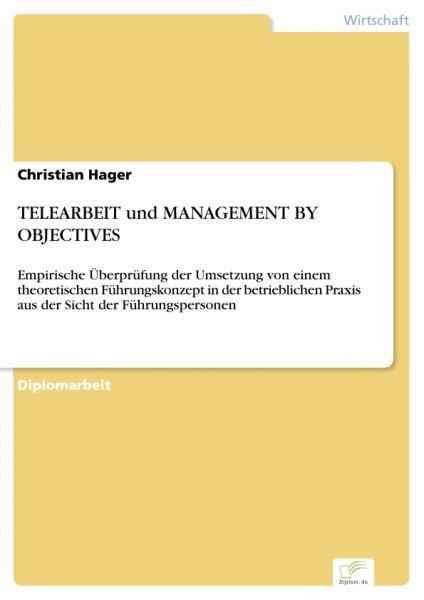 TELEARBEIT und MANAGEMENT BY OBJECTIVES