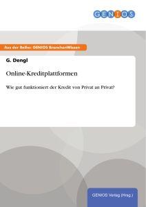 Online-Kreditplattformen