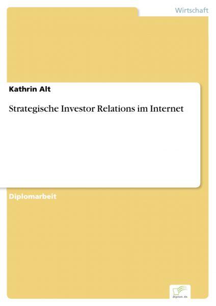 Strategische Investor Relations im Internet