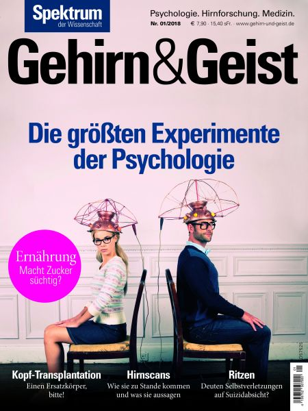 Gehirn&Geist 1/2018 Die größten Experimente der Psychologie