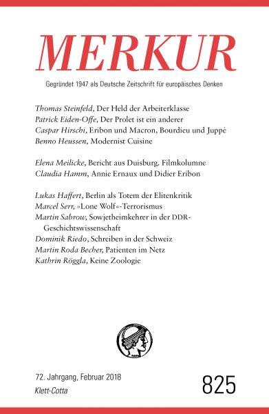 MERKUR Gegründet 1947 als Deutsche Zeitschrift für europäisches Denken - 2018-02