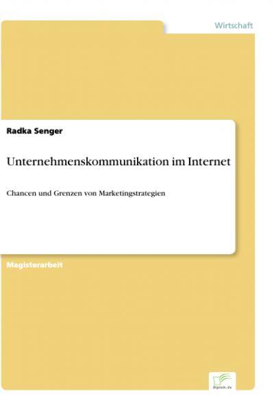 Unternehmenskommunikation im Internet