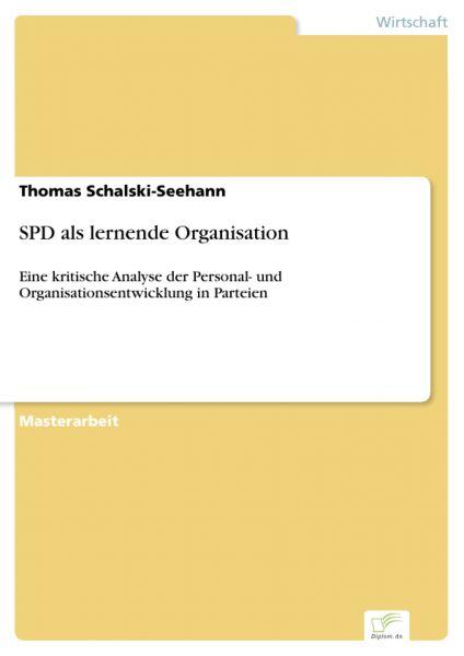 SPD als lernende Organisation