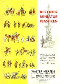 Berliner Miniatur Plastiken - Typenkatalog