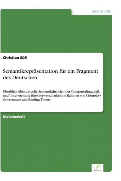 Semantikrepräsentation für ein Fragment des Deutschen