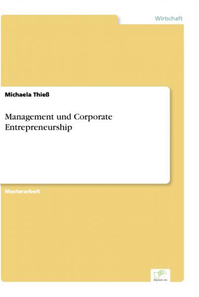 Management und Corporate Entrepreneurship