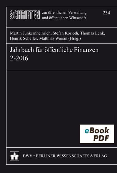 Jahrbuch für öffentliche Finanzen 2-2016
