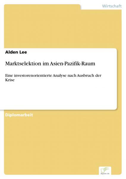 Marktselektion im Asien-Pazifik-Raum